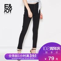 艾格E&joybasic2018夏季女纯色修身铅笔牛仔裤8E2023004