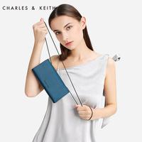 CHARLES&KEITH长款钱包CK6-10700732 纯色金属链条女士钱包