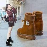 内增高网红短靴女春秋2018新款女矮靴ins马丁靴女英伦风瘦瘦靴子
