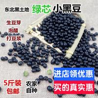 东北绿芯心小黑豆纯天然5斤青仁发芽打豆浆泡醋杂粮农家自产包邮