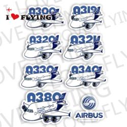 我爱飞行|空中客车AIRBUS A3X0空客卡通飞机旅行登机拉杆箱贴纸