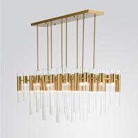 帝美思新品简约后现代创意金属水晶玻璃管家装样板间酒店别墅吊灯
