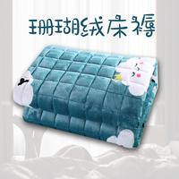 加厚榻榻米床垫冬 珊瑚绒法莱绒懒人床褥垫被薄折叠学生1.5m单人