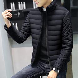 冬季男士棉服外套韩版潮青年立领休闲棉衣男修身帅气加绒加厚棉袄