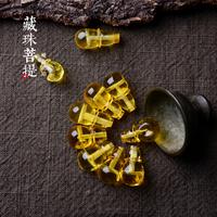 藏珠饰家定制蜜蜡三通一体佛头 天然无优化 金珀精工手作佛珠配饰
