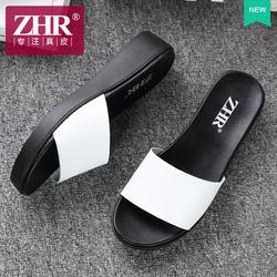 ZHR2018夏季新款时尚外穿厚底港风凉拖鞋韩版平跟百搭一字拖女鞋
