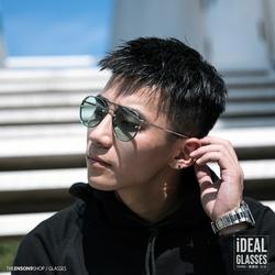 时尚韩国潮人飞行员蛤蟆镜 彩色大圆框墨镜 复古金属防紫外太阳镜