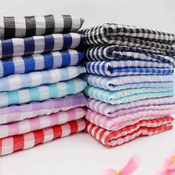 泡泡布料服装面料1cm格子桌布做衬衫DIY黑白红色连衣裙上衣裤179