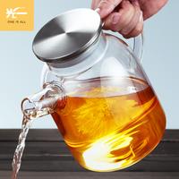 玻璃煮泡茶壶大容量耐热高温花茶透明过滤器茶具水壶家用套装大号