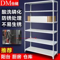 DM加厚角钢仓储货架储藏地下室超市角铁货架拆装 6层家用库房货架
