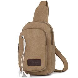 男士胸包帆布包单肩斜挎背包时尚简约小包工作实用腰包手机零钱包
