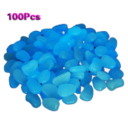5pcs/lot 100 Man-Made Glow in the Dark Pebbles for Garden Wa