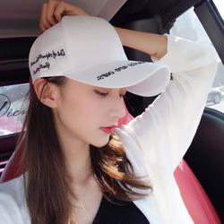 鸭舌帽子女夏天韩版休闲百搭学生街头潮人白色防晒遮阳帽男棒球帽