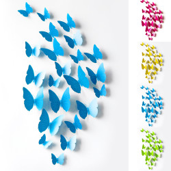 12 Pcs 3D Wall Stickers Butterfly Fridge Magnet for Home Dec