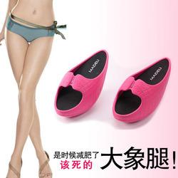 风靡日本厚底中跟时尚家居女式夏季办公室居家负跟鞋瘦腿摇摇拖鞋