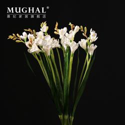 白色仿真水仙花插花 装饰花绢花 美式装饰 假花花艺家居花卉