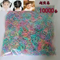 糖果彩色儿童发圈发绳扎头发橡皮筋头花一次性头绳日本小皮套发饰