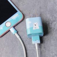 UPICK原品生活iPhone5/6/7充电器头贴纸手机插头背膜苹果配件彩膜