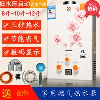 天然气煤气燃气热水器液化气家用卫生间即热式强排8-12升快速洗澡