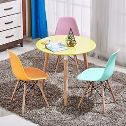 北欧伊姆斯小圆桌咖啡馆洽谈桌椅组合接待谈判会客简约休闲餐桌椅