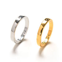 2 PCS Alloy Couples Rings for Men Women Wedding Bands Engage