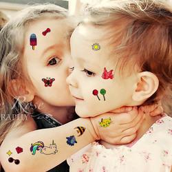儿童纹身贴防水女持久小清新韩国可爱男孩女孩卡通贴纸安全无毒