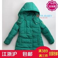 史努比童装特价冬装时尚女童女中童保暖棉服白鸭绒羽绒服2SW49952