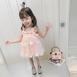 女宝宝夏装吊带裙2018新款儿童洋气裙子公主裙1-3岁4女童连衣裙潮