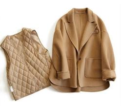 【天天特价】短款双面羊绒大衣女加厚双面呢小款外套小个子毛呢