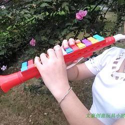新款包邮儿童13键口风琴宝宝早教乐器玩具竖笛13键可吹奏笛子喇叭