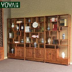 尤亚 博古架实木书架 中式仿古玄关柜隔断柜简约多宝阁古董架