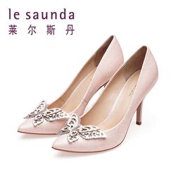 莱尔斯丹 2017新款专柜款女鞋高跟蝴蝶女单鞋8M94699