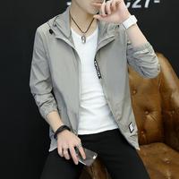 防晒衣服男士夏季超薄款韩版夹克潮流外套开衫透气速干空调青少年