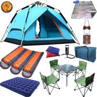 帐篷户外3-4人 全自动 双人套装家庭自驾游 2人露营野营装备用品