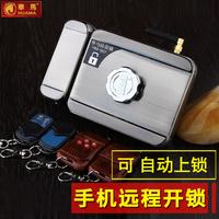 华马家用隐形遥控锁防盗门锁暗锁自动上锁智能电子指纹锁手机远程
