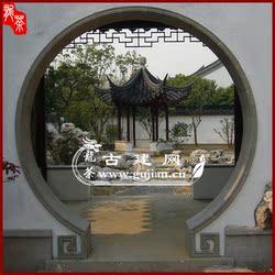 青砖门套 月洞门 圆形拱门 中式庭院门洞 苏式门套 异形门套