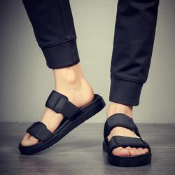 男士凉鞋2018新款室外夏季沙滩鞋男时尚休闲凉拖鞋男外穿一字拖潮
