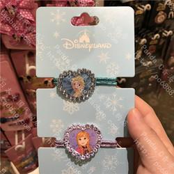 香港迪士尼代购 冰雪奇缘安娜Elsa艾莎公主 儿童橡筋头绳发绳头饰