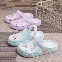 夏季轻便洞洞鞋女防滑包头沙滩凉鞋软底护士凉拖鞋女防滑孕妇凉鞋