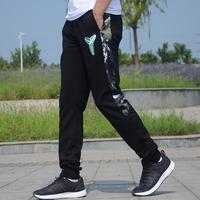 秋冬款运动裤男长裤小脚收口薄款纯棉休闲黑曼巴篮球运动长卫裤