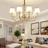 欧式客厅吊灯简约后现代水晶温馨卧室餐厅吸顶灯简欧房间吊灯具