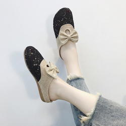 半拖女2018新款百搭港风凉拖复古时尚拖鞋chic包头外穿平底奶奶鞋