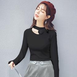 【买3免1专区】女装2016 韩版简约百搭半高领显瘦打底针织衫 自制