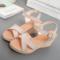 2017夏季新款韩版高跟女凉鞋时尚百搭显瘦露趾镂空坡跟鞋妈妈凉鞋