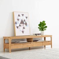 北欧实木电视柜组合简约现代小户型白蜡木家具新中式日式风格地柜