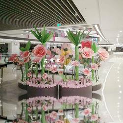 花飞花 商场美陈微景橱窗装饰婚礼背景布置大型仿真植物纸艺花卉