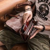 埋不烂 卡包分离式设计 可放一万现金 牛皮手拿包真皮长款钱包Q62