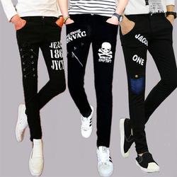15春装12青少年13初高中小学生16岁男孩17牛仔18大童紧身小脚长裤