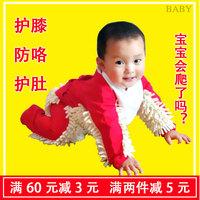 拖把侠婴儿爬行服拖地儿童夏连体衣抖音擦地板小孩宝宝拖把爬爬服