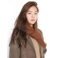 冬季韩版编织学生复古加厚款百搭毛针织围巾粗毛线围巾女